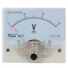 85C1 Analogue 30V Voltage Panel Meter - Light Blue + White