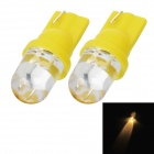 T10 1.5W 130lm LED Yellow Light Motor Steering / Instrument Light (2 PCS / 12V)