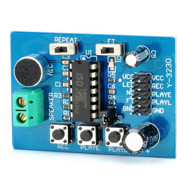 ISD1820 Sound / Voice Recording and Playback Module Board (3~5V) cfsunbird best price 10pcs max9812 microphone amplifier sound mic voice module for arduino 3 3v 3 5v