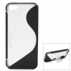 Protective Plastic Back Case w/ Stand for Iphone 5 - Black