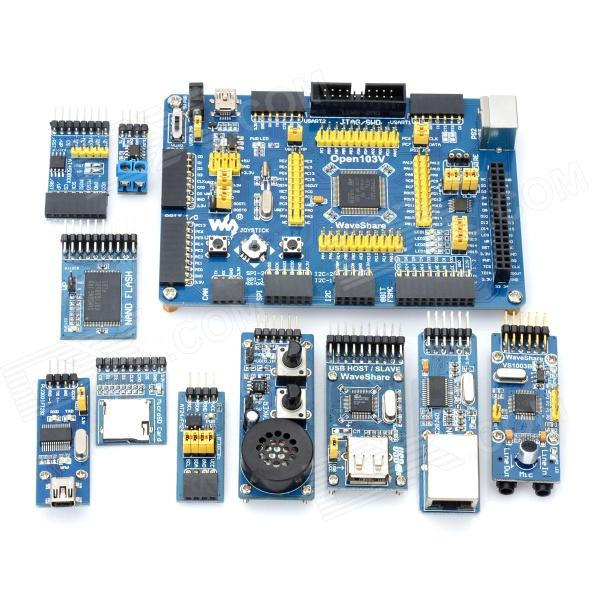 Cortex-M3 STM32F103VET6 Open103V Microcontroller Development Board Kit - Blue