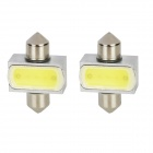 Festoon 31mm 2W 200lm LED White Light Car Reading Light (2 PCS / 12V)