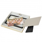 English Letter Pattern Wall Mount Poly Resin Photo Frame - Beige