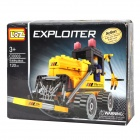 Intellektuelle Entwicklung DIY Assembly Toy Engineering-Truck - Yellow