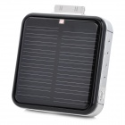 Portable Rechargeable 2200mAh Solar External Battery for iPhone / iPod - Black