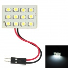 1W 96lm 12xSMD 1210 LED White Light Car Reading Lamp with 3 Connectors