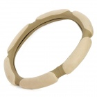 Soft Artificial Suede Car Steering Wheel Sleeve - Khaki (38cm-diameter)