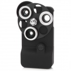 3-in-1 Fish Eye + Wide Angle + Macro Lens w/ Hard Case for Iphone 4 / 4S - Black