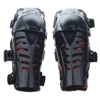 Motorcycle Sports Knee Pad Set - Black + Red (Pair)