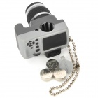 Digital Camera Style White LED Flashlight Keychains - Grey + Black (3 x AG13)
