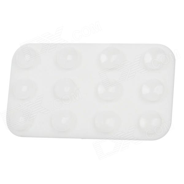 Mini Double-Sided Suction Cup Pad for Mobile Phone - White