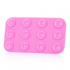 Mini Double-Sided Suction Cup Pad for Mobile Phone - Pink