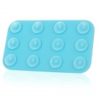 Mini Double-Sided Suction Cup Pad for Mobile Phone - Blue