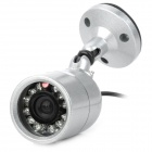 608S Waterproof NTSC CMOS CCTV Camera w/ 12-IR LED Night Vision / Stand - Silver