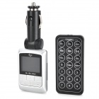 "1.44"" LCD Car MP3 Player FM Transmitter w/ Remote Controller / SD / TF - Silver (12~24V)"
