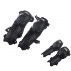 Sports Motorcycle Elbow Guard + Knee Pad Set - Black (4 PCS)