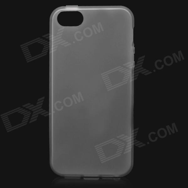 Protective Soft Plastic Back Case for Iphone 5 - Translucent Black