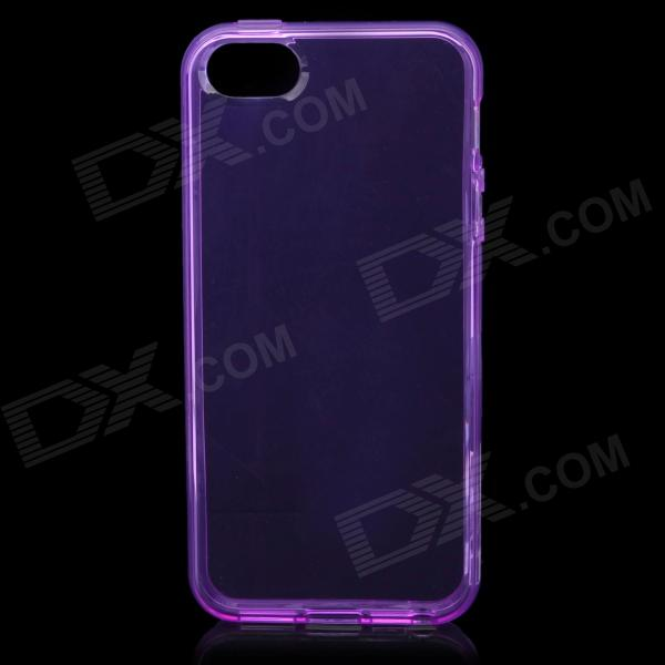 Protective Soft Plastic Back Case for Iphone 5 - Purple