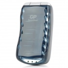 GPPB19 Multifunctional Battery Charger for 4 x AA / AAA / D / C / 9V Batteries - Black (UK Plug)