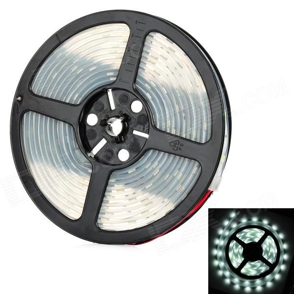12W 1200lm 6500K 150-SMD 3528 LED White Light Flexible Soft Lamp Strip - (DC 12V / 5m) jr smd3528 60 w 24w 6500k 1200lm 300 smd 3528 led white flexible lamp strip 12v 5m