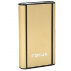 Focus JunLang Wiredrawing Cigarette Storage Case - Golden + Black ( Holds 10)