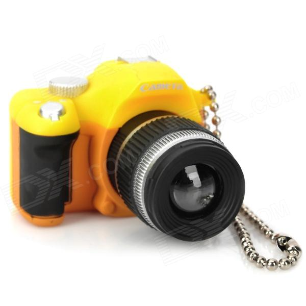 все цены на Digital Camera Style White LED Flashlight Keychains - Yellow + Black (3 x AG13) онлайн