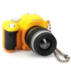 Digital Camera Style White LED Flashlight Keychains - Yellow + Black (3 x AG13)