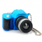 Digital Camera Style White LED Flashlight Keychains - Blue + Black (3 x AG13)