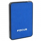 Focus Ultra-thin Wiredrawing Cigarette Case Dispenser w/ Built-in Butane Lighter - (Holds 10)