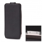 2300mAh External Battery Back Case w/ PU Leather Cover for iPhone 4 / 4S - Black