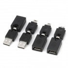 360 Degree Rotatable USB 2.0 Connector Adapter (4 PCS)