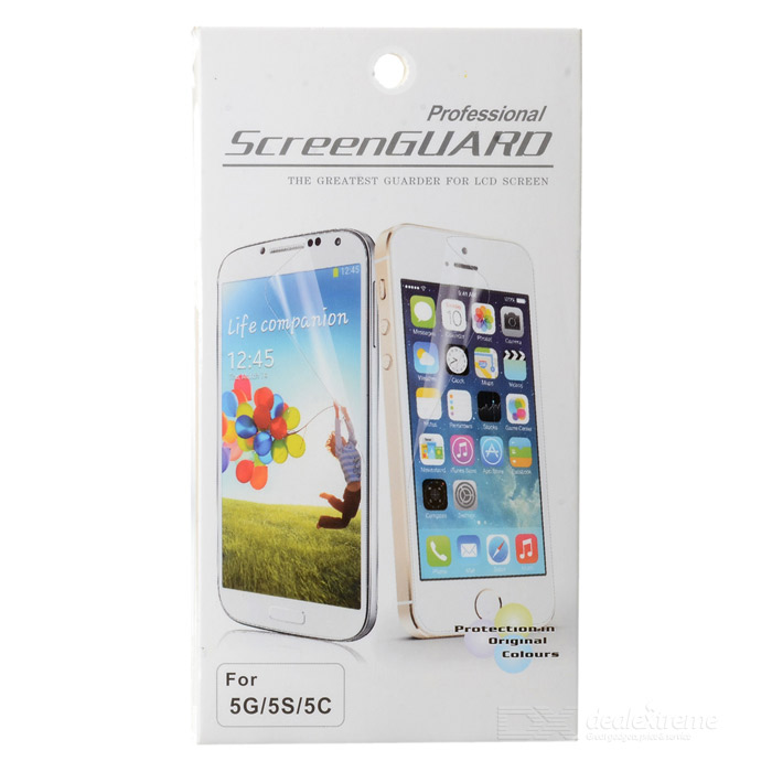 Protective PET Screen Protector Guard for IPHONE 5 / 5S - TransparentScreen Protectors<br>- Color: Transparent- Material: PET- Protects your mobile front screen against scratch dust fingerprint and stain etc.- It is perfect size easy and convenient to use- Suitable for Iphone 5- Comes with cleaning cloth<br>