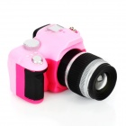 Mini Camera Style Keychain w/ Flash Torch - Pink + Black (3 x AG13)