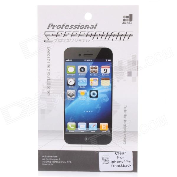 High Transparency Protective PET Front + Back Screen Protector Guard Film Set for Iphone 5