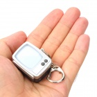Retro TV Style ABS Keychain - Grey + Silver (3 x AG13)