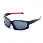 OREKA Sports Riding Protection Resin Sunglasses - Black + Red