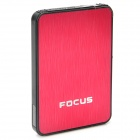 Focus Ultra-thin Wiredrawing Cigarette Case Dispenser w/ Built-in Butane Lighter - (Holds 10 )
