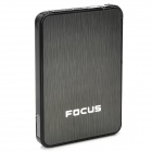 Focus Ultra-thin Wiredrawing Cigarette Case Dispenser w/ Butane Lighter - (Holds 10 )