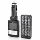 "1.44"" LCD Car MP3 Player FM Transmitter w/ Remote Controller / SD / TF - Black (12~24V)"