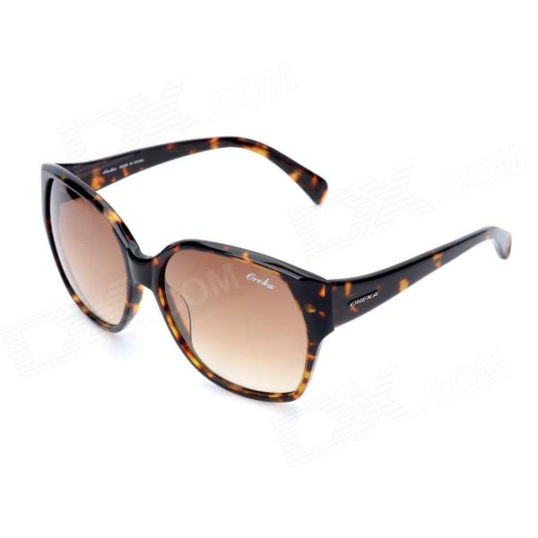 OREKA Fashion Casual Protection Resin Sunglasses - Tortoiseshell + Brown retro women sunglasses polarized driving sun glasses with pc metal hinge shades uv400 protection gafas de sol mujer 4 colors