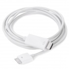 Apple 30-Pin Male to HDMI Male Connection Cable for iPhone / iPad - White (720p HD / 1.8m)