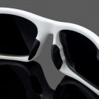 OREKA Sports Riding Protection Resin Sunglasses - White + Black