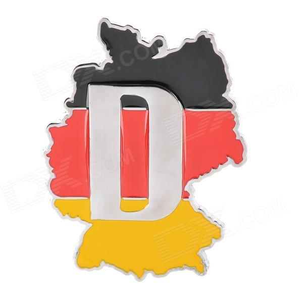 3D Germany National Flag Style Grill Decoration Emblem for Car TuningCar Stickers<br>Quantity:Material:Form  ColorRedPacking List<br>
