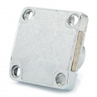 Universal Zinc Alloy Civil Drawer Lock Set - Silver