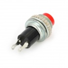 Plastic + Copper Push Button Momentary Normally Closed Power Switches - Red (10 PCS)