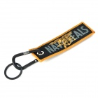 "Fly Eagle + ""NAVY SEALS"" Word Pattern Keychain - Black + Earthy"