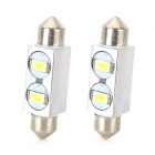 Festoon 39mm 1W 80lm 2-5630 SMD White LED Car Reading / License Plate Lamp (12V / 2 PCS)