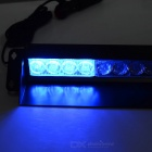 1W 8-LED Red/Blue Police Style Strobe Light for Cars (12V DC)