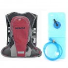 ACACIA 04119001 Cycling Camping Hiking Backpack + Water Bag - Red + Grey + Black (10L + 1L)