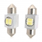 Festoon 31mm 1W 80lm 2-5630 SMD White LED Car Reading / License Plate / Clearance Lamp (2 PCS / 12V)